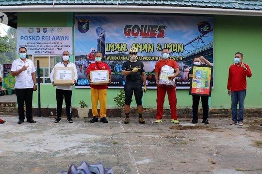 Kodam XII Tanjungpura serahkan bantuan untuk Satgas COVID-19 Siantan Hulu