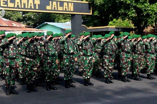 Korem 152 Babullah gelar apel pasukan pengamanan Pilkada