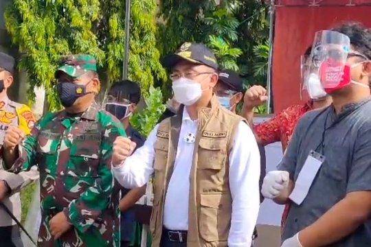 Kapolda Banten bersama Pangdam III Siliwangi pantau TPS di Serang Banten