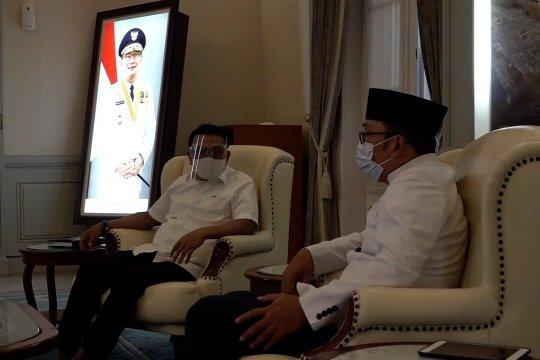 Kunjungi Ridwan Kamil, Moeldoko bahas potensi kendala vaksinasi