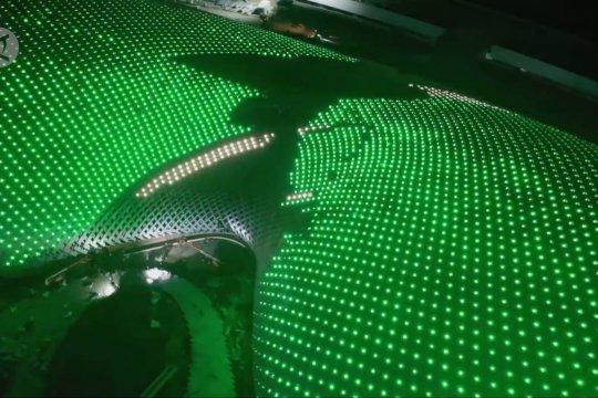 Melihat tes sistem pencahayaan di venue Asian Games 2022 Hangzhou