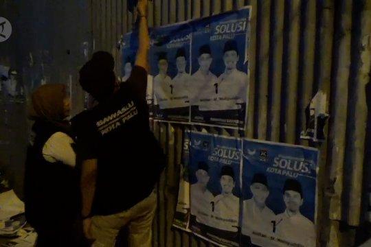 Bawaslu Palu tertibkan APK di masa tenang Pilkada 2020