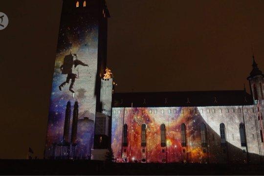 Stockholm gelar pertunjukan cahaya untuk hormati para peraih Nobel
