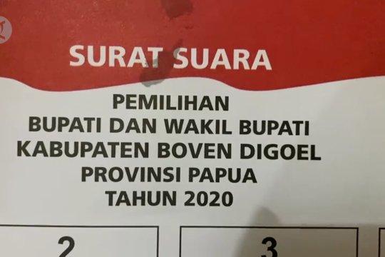 KPU tunggu 1.284 pengganti surat suara rusak pilkada Boven Digoel