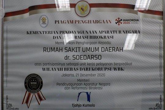 RSUD Soedarso Pontianak raih predikat WBK dari Kementerian PANRB
