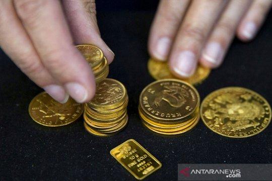 Harga emas naik tipis 1,7 dolar di hari perdagangan terakhir 2020