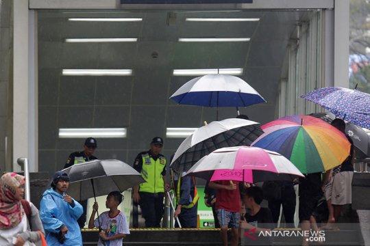 BMKG prakirakan sebagian Jakarta hujan dengan intensitas sedang
