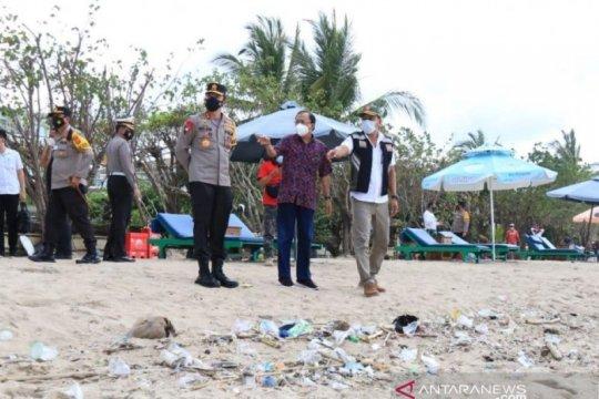 Gubernur-Kapolda Bali pantau protokol kesehatan di destinasi wisata