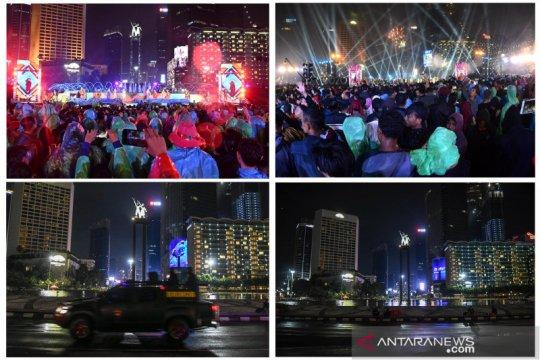 Suasana malam pergantian tahun di Jakarta dulu dan sekarang
