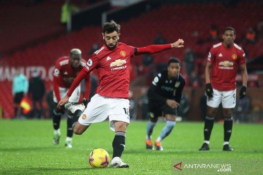 Manchester United terus tancap gas saat bekuk Aston Villa 2-1