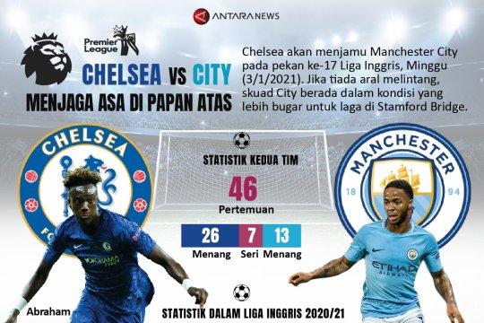 Chelsea vs City, menjaga asa di papan atas
