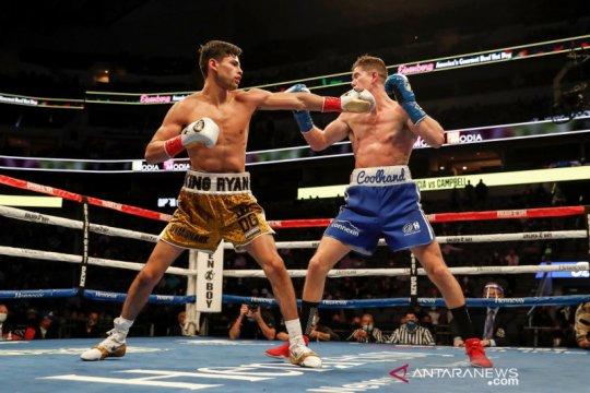 Ryan Garcia kalahkan Luke Campbell dengan TKO di ronde ketujuh