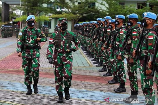488 personil Satgas BGC TNI Konga XXXIX-C Monusco Kongo diberangkatkan