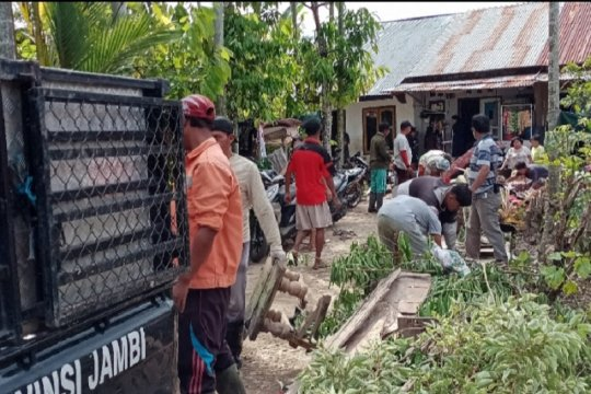 Petugas kebersihan Kota Jambi angkut 50 ton sampah usai banjir