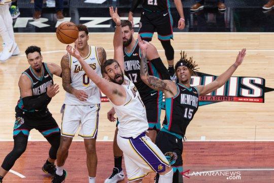 Lakers bekuk Grizzlies untuk raih kemenangan ketiga berturut-turut