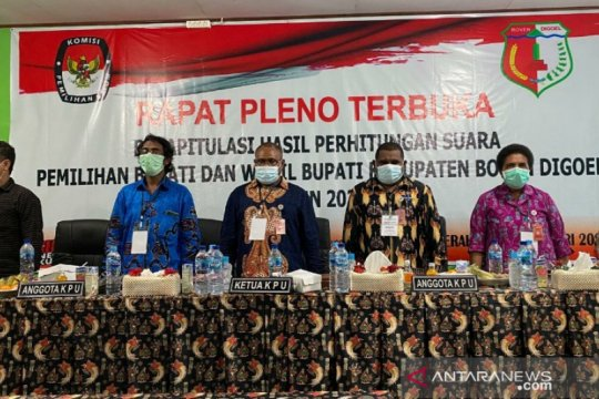 KPU Papua: Yusak-Yakob raih suara terbanyak Pilkada Boven Digoel