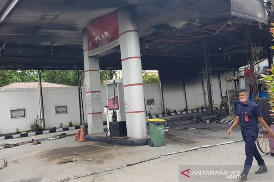 Polresta Pekanbaru tunggu hasil Labfor untuk kasus kebakaran SPBU