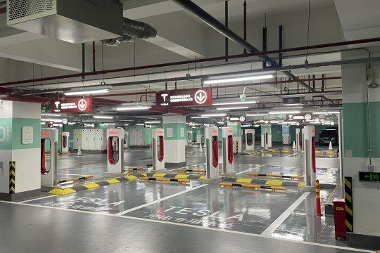 Tesla buka stasiun supercharger terbanyak di China