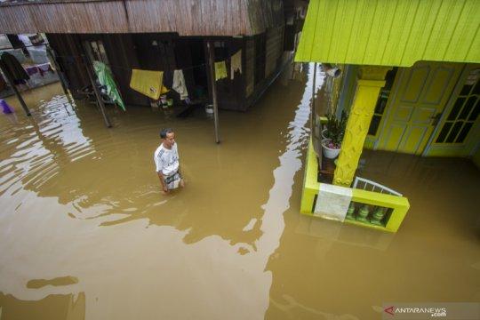 Banjir akibat luapan Sungai Martapura