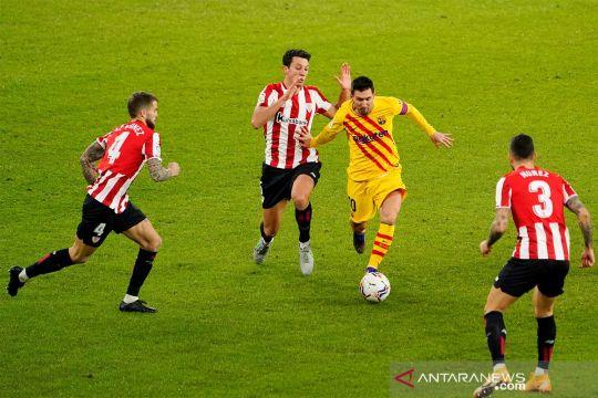Messi ingin main di final Piala Super Spanyol meski alami cedera