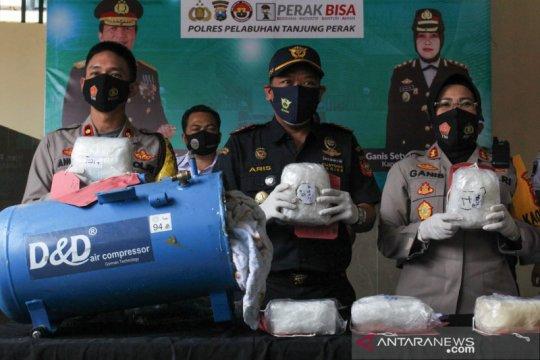 Polisi Surabaya gagalkan penyelundupan narkoba 7,2 kg asal Malaysia