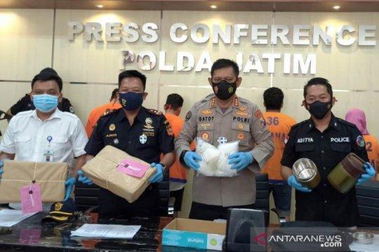 Polda Jatim gagalkan peredaran 6 kg sabu-sabu dari Malaysia
