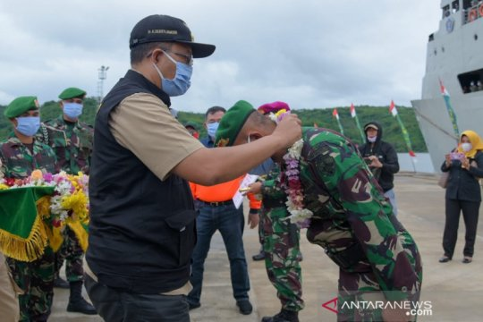 1.000 pasukan TNI Satgas Rehab Rekon RTG NTB kembali barak