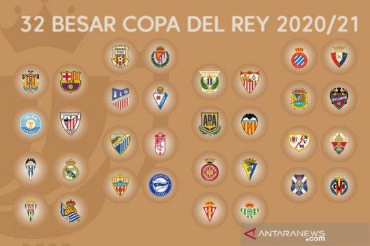 Hasil undian Copa del Rey, pengusir Atletico Madrid bertemu Barcelona