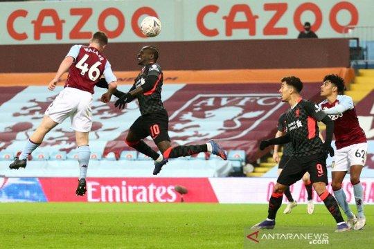 Liverpool dibuat frustrasi tim U-23 Villa walau menang 4-1 di Piala FA
