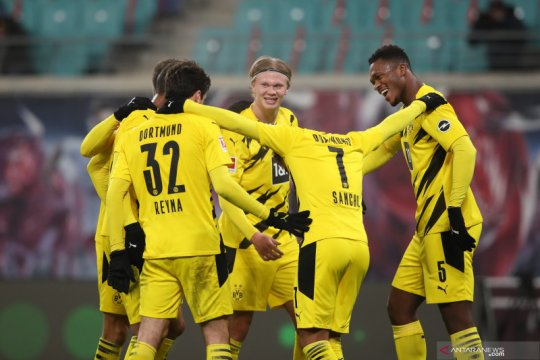 Dua gol Haaland bantu Dortmund menang 3-1 atas Leipzig