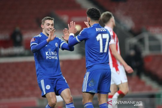 Leicester lolos ke putaran keempat Piala FA setelah hantam Stoke