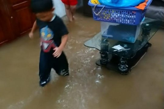 Sejumlah rumah di Batubesar terendam banjir