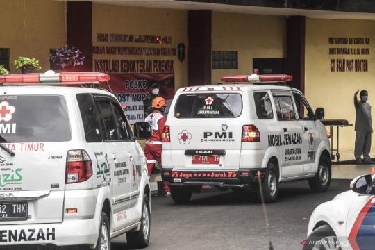 RS Polri terima 7 kantong jenazah diduga penumpang Sriwijaya Air
