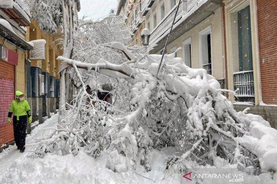 Spanyol kirim vaksin dan makanan ke wilayah yang dilanda badai salju
