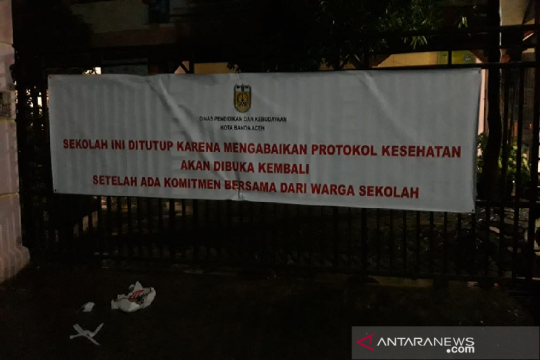 Tiga sekolah di Banda Aceh ditutup karena abaikan protokol kesehatan
