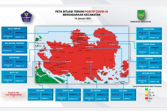 Tiga kecamatan penyangga Batam kembali jadi zona hijau COVID-19