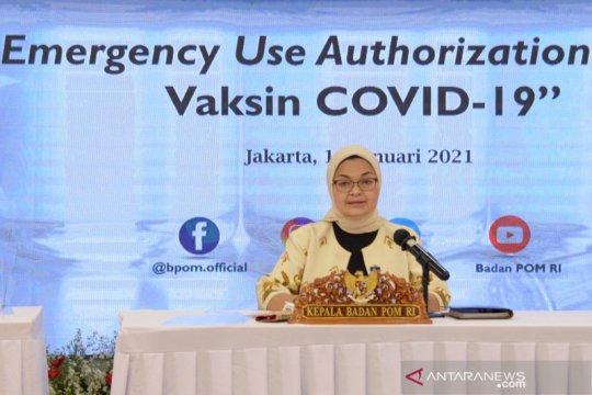 BPOM terbitkan izin penggunaan darurat vaksin COVID-19 Sinovac