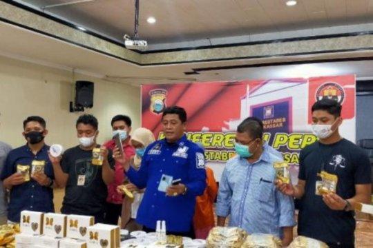 Polisi gagalkan peredaran belasan ribu kosmetik ilegal di Makassar