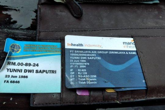Dompet pramugari Sriwijaya Air ditemukan dengan uang ratusan ribu