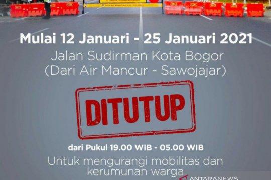 Pemkot Bogor tutup Jalan Sudirman setiap pukul 19.00-05.00 WIB