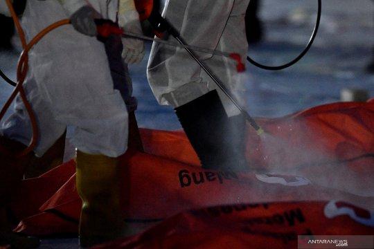 239 kantong jenazah terkumpul selama enam hari evakuasi Sriwijaya Air