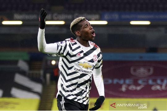 Liga Inggris: MU puncaki klasemen sementara setelah kalahkan Burnley