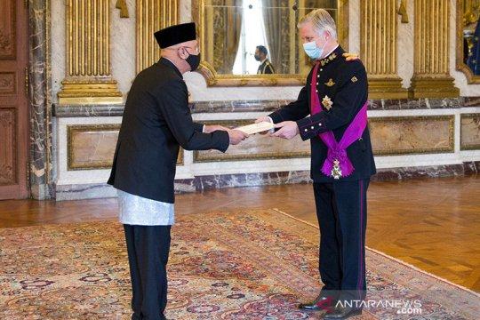 Dubes Andri Hadi serahkan surat kepercayaan kepada Raja Belgia