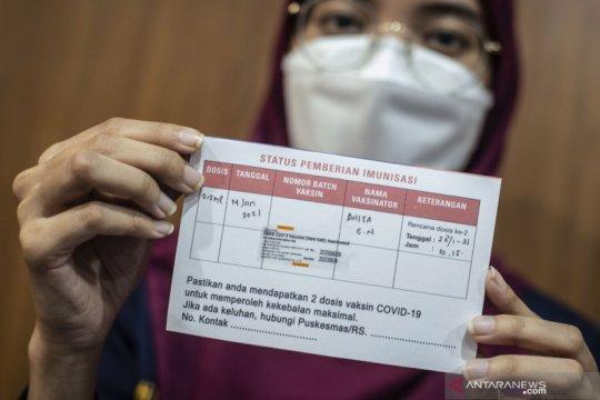 Tidak ada efek samping dari vaksinasi di Jakarta