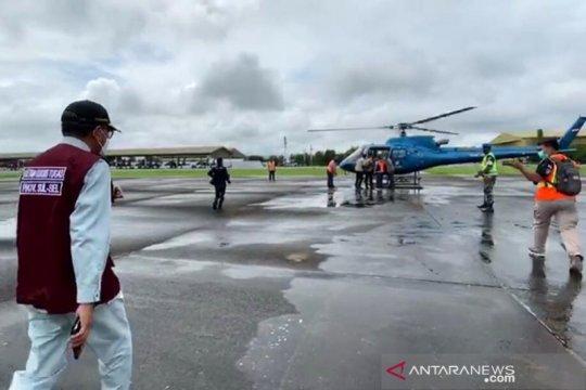 Gubernur Sulsel, Pangdam dan Kapolda pantau dampak gempa dari udara