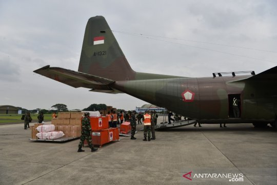 Pesawat TNI AU angkut bantuan logistik ke Mamuju