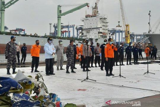 Hari ketujuh evakuasi SJ-182, Tim SAR temukan 13 kantong jenazah