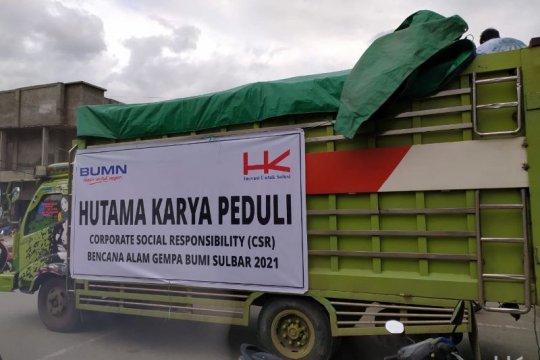 Hutama Karya salurkan bantuan dan bangun posko untuk gempa di Sulbar