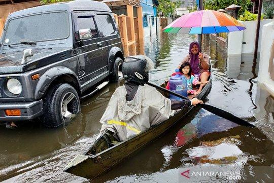 Banjir di Banjarmasin tidak makan korban jiwa tapi 3.000 KK terdampak