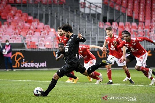Rennes kembali ke jalur kemenangan setelah lumat Brest 2-1